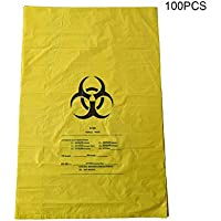 Belupai - Bolsas de basura resistentes de 10 galones para residuos de riesgo biológico biodegradables de grado hospitalario