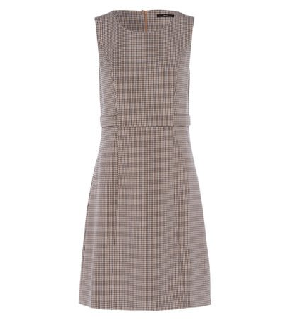 zero Damen Kleid mit Karomuster 313837 taupe 38