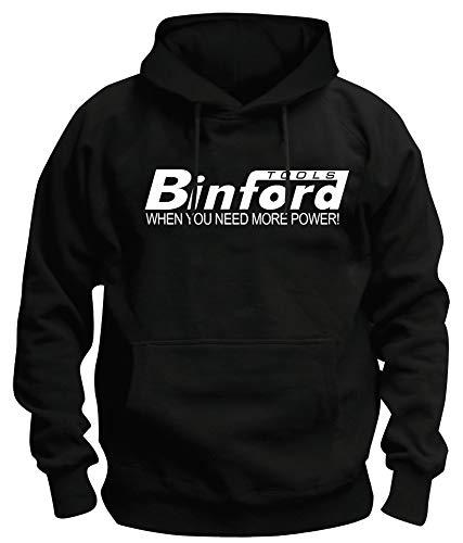 TSP Binford Tools Kapuzen-Sweatshirt Herren XXXXL Schwarz (Dc Herren Kapuzen Sweatshirt)