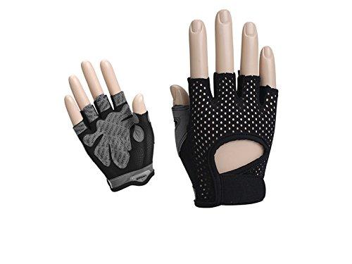 Blue bridge giardinaggio guanti da sollevamento pesi senza dita da donna guanti da palestra mezze dita per manubri sollevamento pesi yoga ciclismo (m) per lavorare