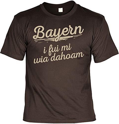 Wiesn T-Shirt für Bayerische Herren - Bayern Wia Dahoam - Herrenshirt als Outfit zum Oktoberfest, Größe:3XL
