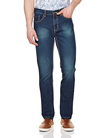 Newport Men's Slim Fit Jeans (8907542341696_270026876_32W x 32L_Mid Stone Blue)
