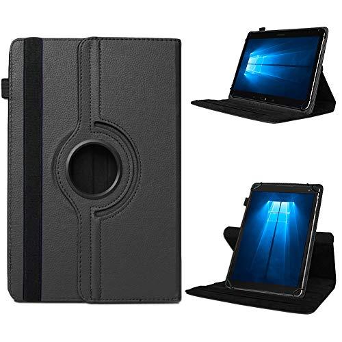 UC-Express Odys Connect 7 Pro Tasche Tablet Hülle Cover Case Schutzhülle 360° Drehbar Etui, Farben:Schwarz