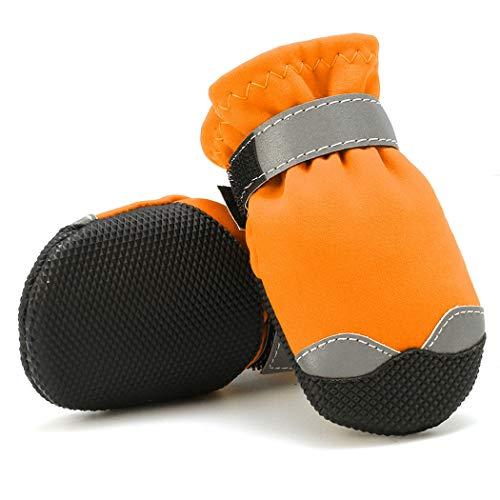 LIPETLI Reflektierendes Nylongewebe Haustier Schuhe wasserdichte Superfine