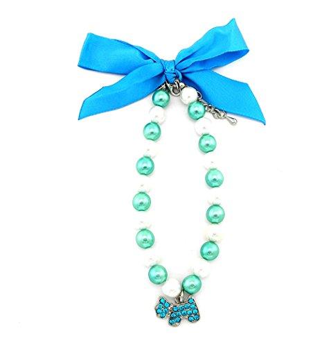 zunea Kleine Haustiere Hund Katze Hund Charm Halskette Hund Jewelry Verstellbar 24,1cm -11.5