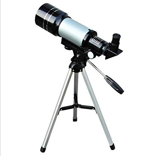 HOUYAZHAN Shimme Nachtsicht-Sternenteleskop-beruflicher Stern, der Berufs-im Freientourismus aufpasst Sterne zu beobachten den Mond (Color : Silver)