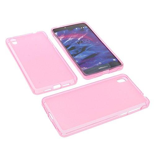 foto-kontor Tasche für MEDION Life X5020 Gummi TPU Schutz Hülle Handytasche pink