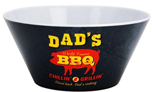 3er Set - Schale 15 x 7 cm Melamin Barbecue - Dads BBQ (Dads Hot Sauce)