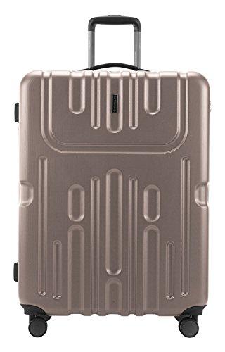 HAUPTSTADTKOFFER - Havel - 2er Koffer-Set (Handgepäck mit Laptop-Fach und Großer Reisekoffer) Trolley-Set Rollkoffer Hartschalenkoffer, TSA, (S & L), Gold - 6