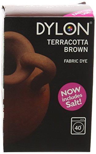 Dylon Teinture textile pour Machine à laver Brun terre cuite 350 g (y compris le sel
