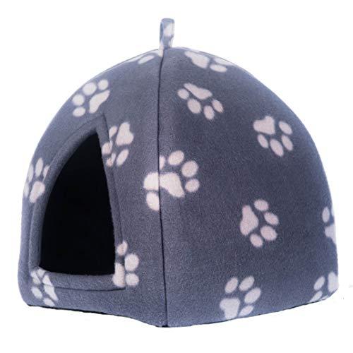 PETEQ Comfort Katzenhaus, Katzenhöhle in Mehreren Farben, 33cmx33cmx40cm, faltbar aus hochwertigem Material (Grau)