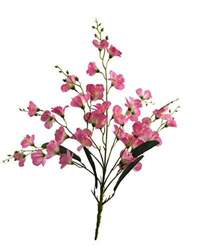 Fourwalls Synthetic Fabric Artificial Gardenia Flower Bunch (7 Branches, 37 Flower Heads,...