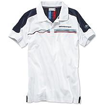 BMW Motorsport da uomo Polo Casual Cotone A Maniche Corte, Colore: Bianco, Taglia: XXL