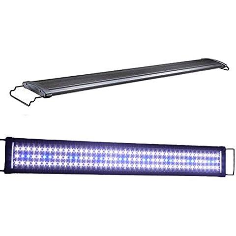 Acuarios Eco 8–33W LED Acuario iluminación aufsetzl euchte Azul Blanco aquairum lámpara Candelabro 36–121cm