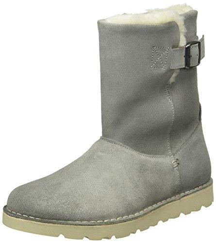Birkenstock Shoes Westford Damen Kurzschaft Stiefel, Grau (Light Grey Lammfell), 38 EU
