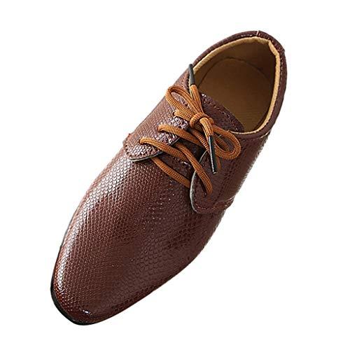 LILIGOD Freizeitschuhe Jungen Kinder Britischer Stil Lederschuhe Studenten Schuhe Leistung Slip-On Einzelne Schuhe Mode Wild Outdoor-Schuhe Lässige Anzugschuhe Party Schuhe