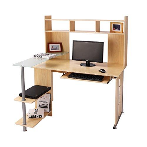 Homcom® Computertisch Eckschreibtisch Winkelschreibtisch Schreibtisch Bürotisch PC Tisch, verschiedene Modelle (Modell 11/beige)