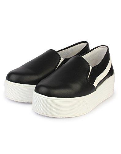 Orysta Stylish Vam Side Sneakers For Women (Euro39, Black)