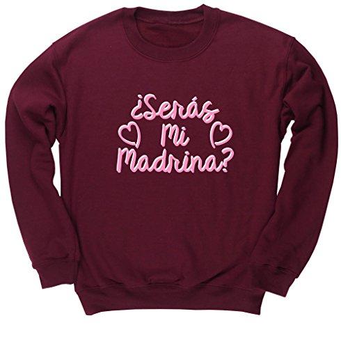 HippoWarehouse ¿Serás Mi Madrina? (Rosa) jersey sudadera suéter derportiva unisex