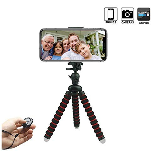 Handy Stativ, Mini Flexibel Reise Stativ, Phone Stativ, Handy Halter Halterung für Kamera, Smartphone
