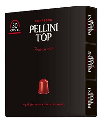 Pellini Top Arabica 100% - Confezione da 30 Capsule, compatibili Nespresso