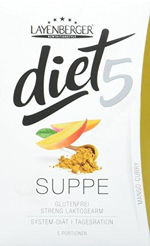 Layenberger diet5 Suppe Mango-Curry, 5 Stück