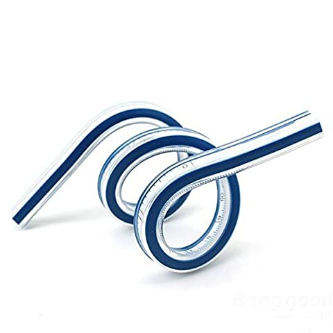 mark8shop TRIXES 30cm 30,5cm Helix vinyle flexible en plastique Français Curve Règle