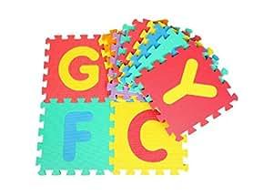 Glitter Collection Kids Puzzle Alphabet Interlocking Mat, 26 Tiles (8 mm, Multicolour)