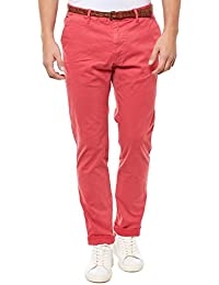 SCOTCH&SODA HOSE HERREN CHINO 132267 ROT RED MEN