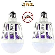 GuDoQi Paquete De 2 Mosquitos Asesino Bombilla LED 220V 15W Ajustable Mosquito Asesino Lámpara Trampa Eléctrica
