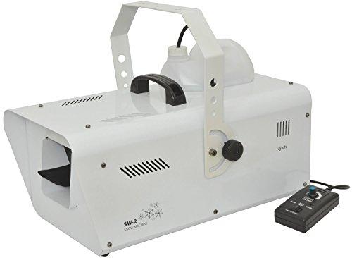 QTX SW-2 máquina de nieve artificial 1200 W con cable-mando a distancia y control DMX