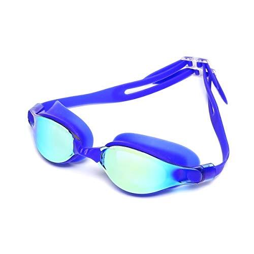 Xinqing SHU Man Schwimmbrille Unisex Fashion Cool Wasserdicht Anti-Fog HD Beschichtung Reflektierende Linse Professionelle Schwimmbrille, gutes Material, hohe Qualität (Color : Blue) -