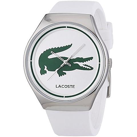 Lacoste VALENCIA - Reloj Analógico de Cuarzo para Mujer, correa de Silicona color Blanco
