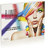 B Uniq Non-Toxic Temporary Hair Chalks Set - Great For Halloween, Fancy Dress Up, Performance Costumes: Create A Funky Look for Children and Teens - 24-Pack Temporary Hair Chalks