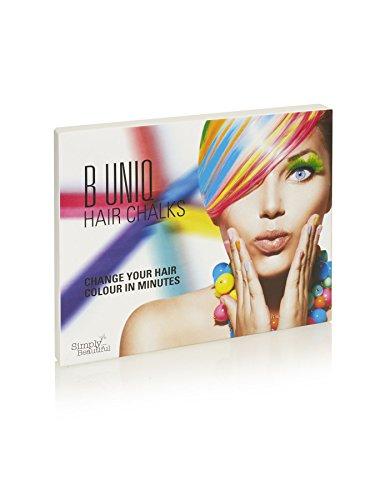 B Uniq - Haarkreide-Set für Kinder & Teenager - Auswaschbar und ungiftig - ideal für Fasching, Partys, Festivals - 24 Farben