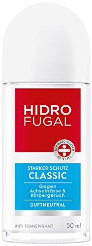 Männer Deo Roll (Hidrofugal Classic Deo-Roller, Anti-Transpirant Deodorant mit dezentem Duft, 5er-Pack (5 x 50 ml))