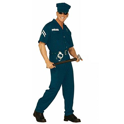 US Cop Kostüm USA Polizeikostüm Herren XL (54) Polizist Herrenkostüm Fasching Amerika Polizei Faschingskostüm Polizeiuniform Karnevalskostüm Uniform Mottoparty Verkleidung Karneval Kostüme Männer