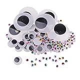 Baoblaze 306 Stück Sortierte Größe Kunststoff Wackelaugen Kulleraugen Wiggle Augen Für Scrapbooking DIY Puppe Herstellung Handwerk