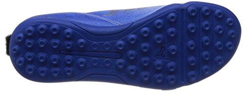 Puma Mb 9 Tt Jr, Chaussures de football mixte enfant Blanc - Weiß (white-white-team power blue-team gold 01)