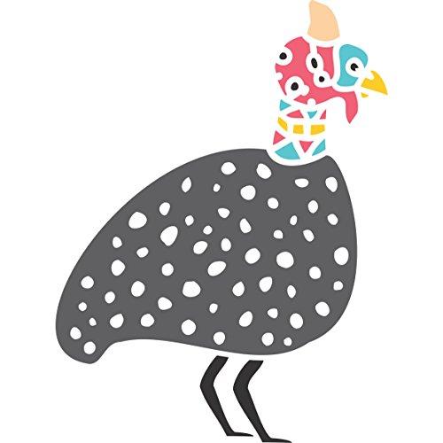 guinea-fowl-stencil-tamano-75-x-10-cm-reutilizable-de-pared-plantillas-para-pintar-mejor-calidad-ide