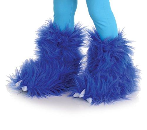 Fell Plüsch Monster Stulpen - Überzieher blau - Einheitsgröße ()