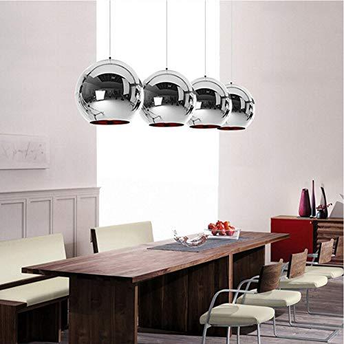 dant Lights Copper Glass Mirror Ball Hanging Lamp Kitchen Modern Lighting Fixtures Hanging Light ()