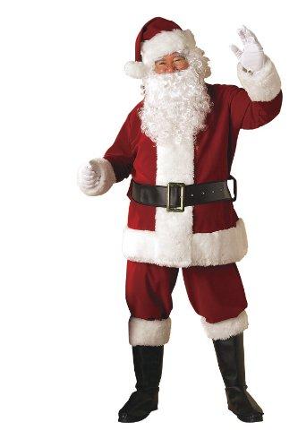 Erwachsene Für Kostüme Deluxe (Rubie 's Offizielles Deluxe Weihnachtsmann-Kostüm aus Samt–Erwachsene)