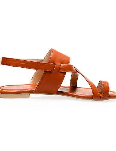 LFNLYX Chaussures Femme-Décontracté-Noir / Marron / Argent-Talon Plat-Bout Ouvert-Sandales-Similicuir Black