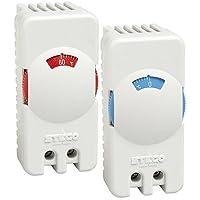Stego 01115.0-00 Modelo STO 011 Termostato Pequeño Compacto, Contacto NC, Botón Rojo, 0 a +60 °C Temperatura de Regulación, 70 mm Altura x 33 mm Ancho x 42 mm Longitud