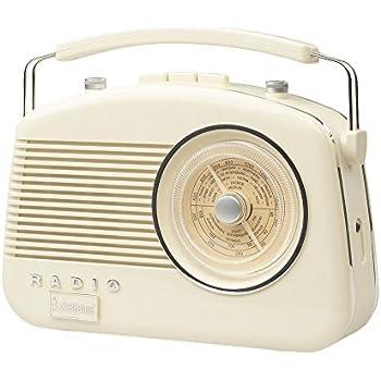 Box Damaged New Item Akai A60010C Retro 1950/'s 4 Band Radio Cream