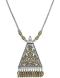 The Luxor German Oxidized Silver Tribal Pendant Necklace For Women And Girls(PD-2204)