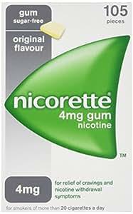Nicorette Original Gum 4 mg, 105 Pieces