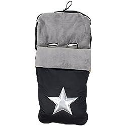 Alondra 643E-401 - Saco para silla de bebé universal, impermeable, bordado, color negro