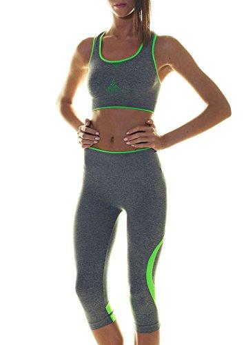 FOCENZA - Legging de sport - Femme * Melange-Verde